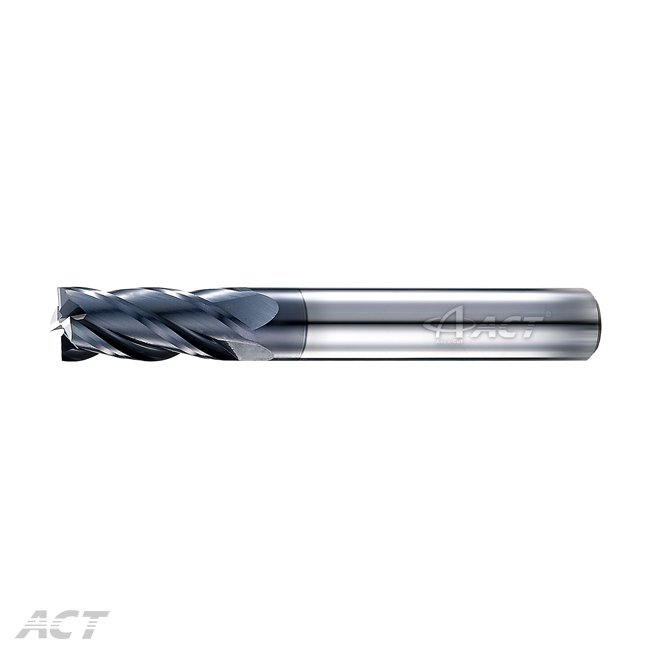 (S4KES) 4 Flute 45° High-hardness Square Endmill - HRC60 and above