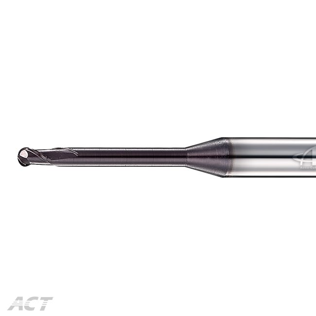 (2KUB-D) 2 Flute DLC Coating Ballnose - For Deep Machining