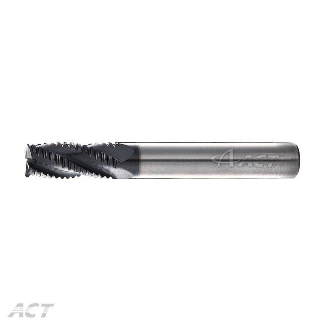 (4KER) 4刃粗銑刀 - 中齒