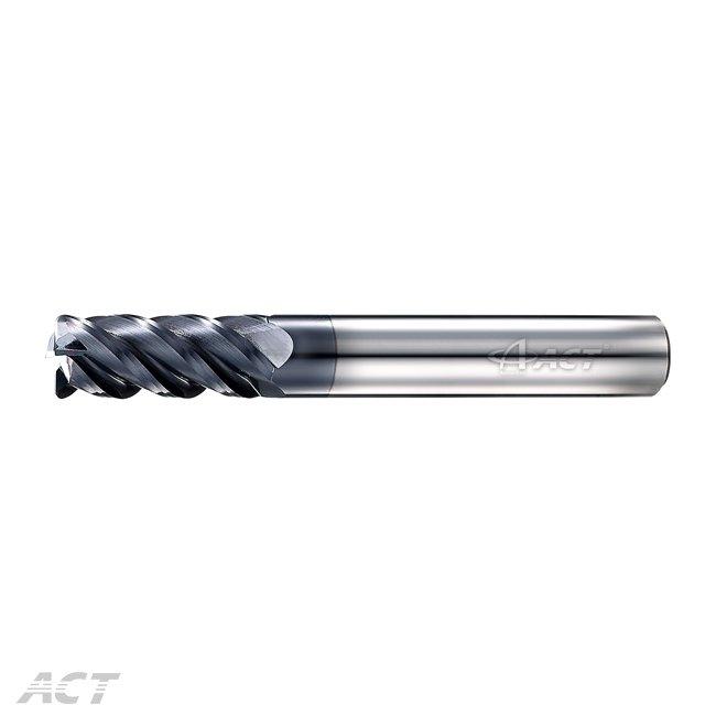 (S4NBL) 4刃高硬度長柄 45° 圓鼻刀